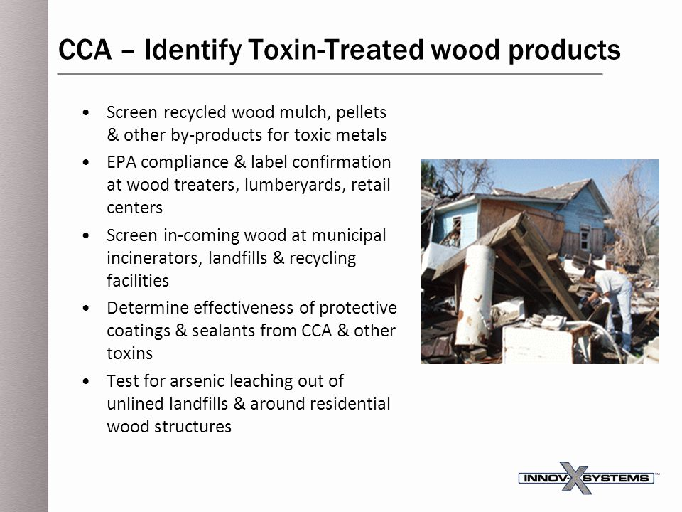 CCA – Identify Toxin-Treated wood products