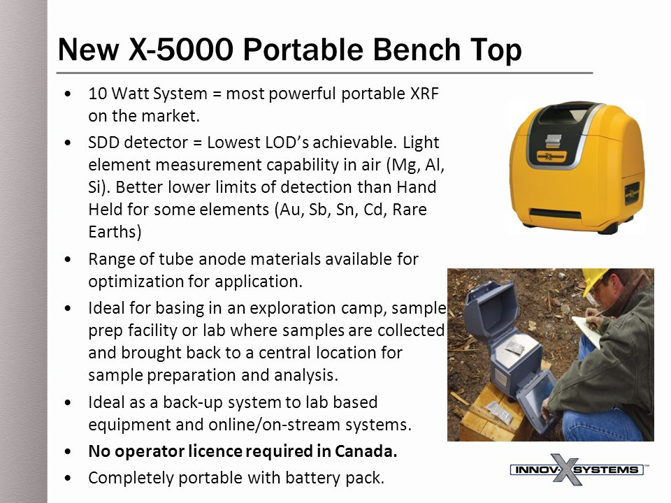New X-5000 Portable Bench Top