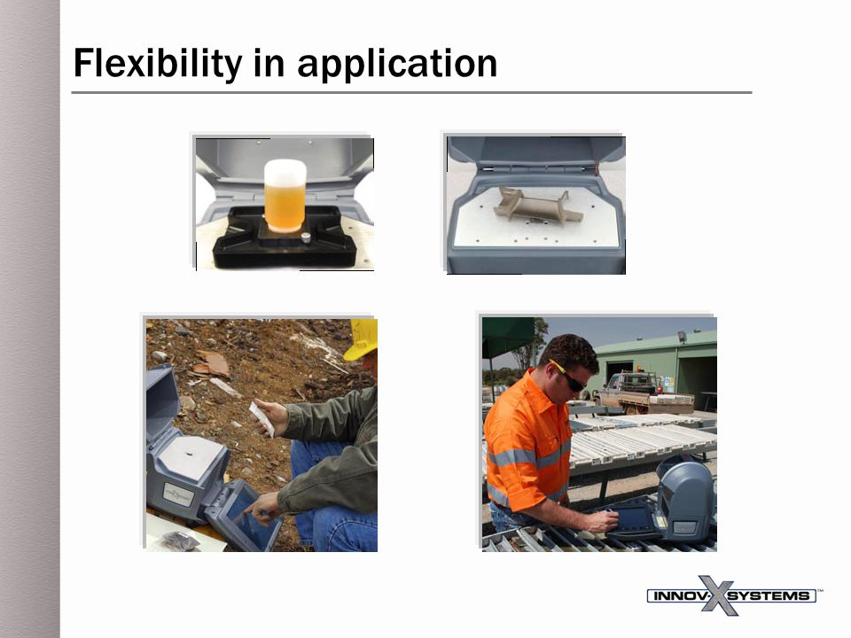 Flexibility in application
