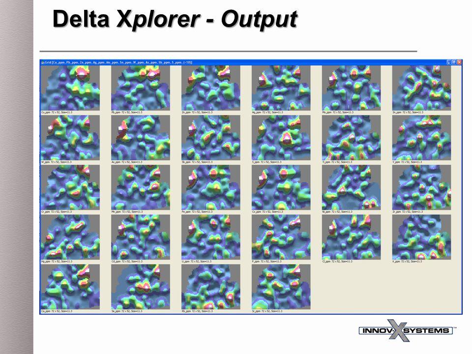Delta Xplorer - Output