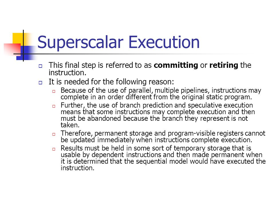 Superscalar Execution