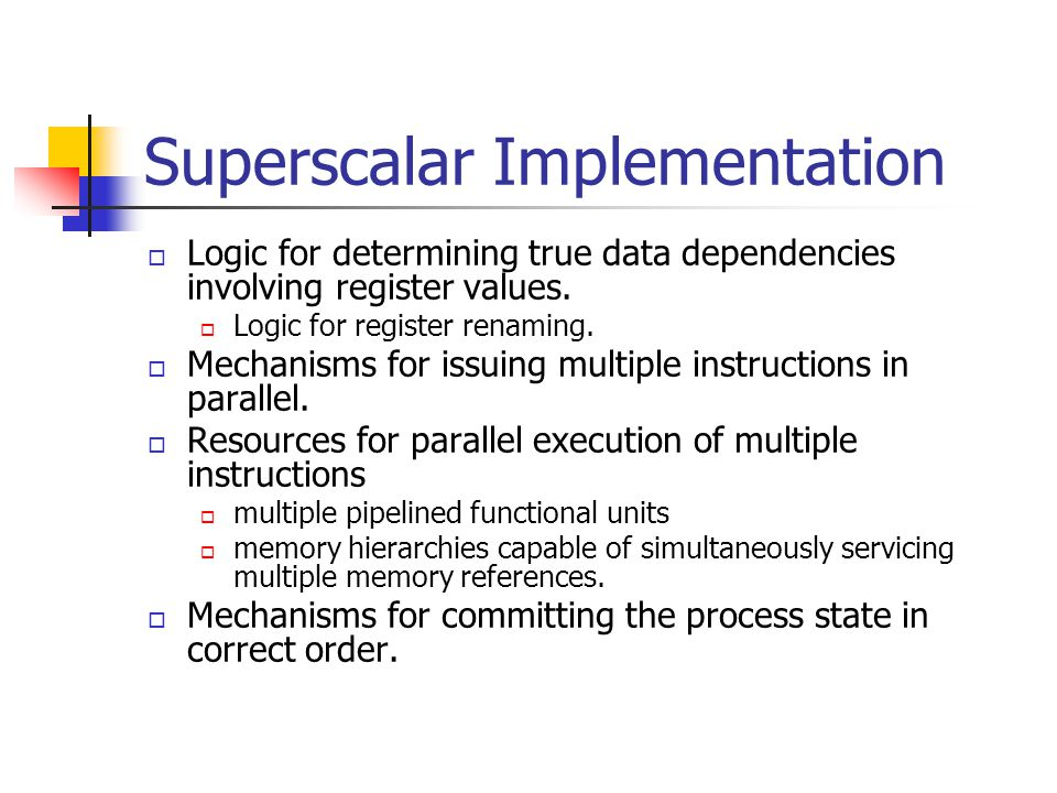 Superscalar Implementation
