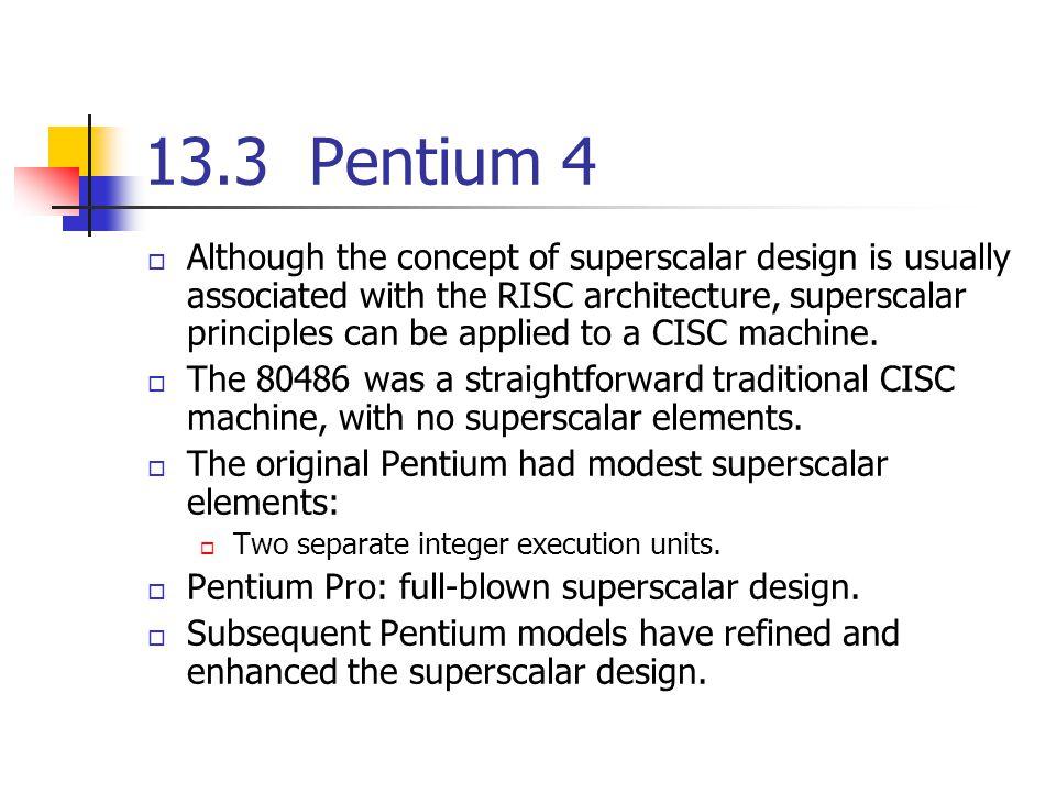 13.3 Pentium 4