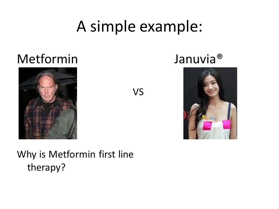 A simple example: Metformin Januvia® VS