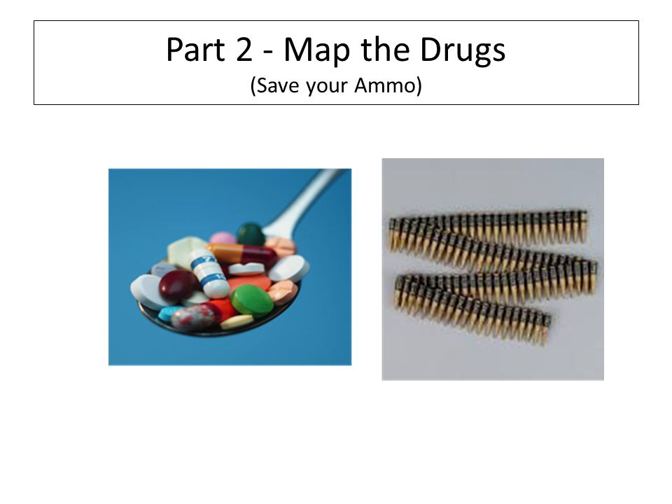 Part 2 - Map the Drugs (Save your Ammo)