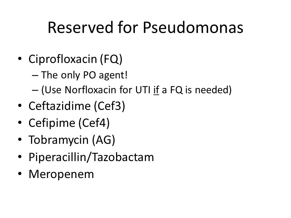 Reserved for Pseudomonas
