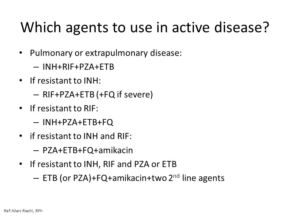 Which agents to use in active disease