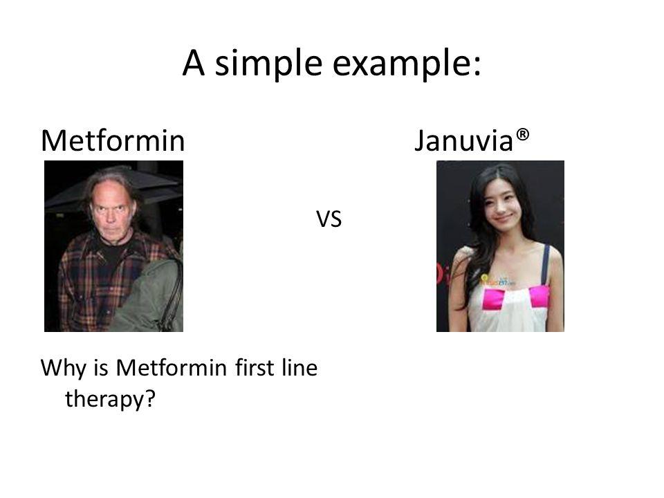 A simple example: Metformin Januvia® VS