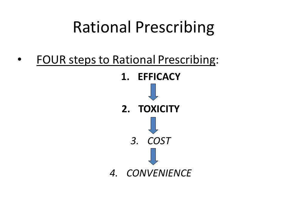 Rational Prescribing FOUR steps to Rational Prescribing: EFFICACY