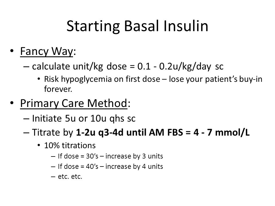 Starting Basal Insulin