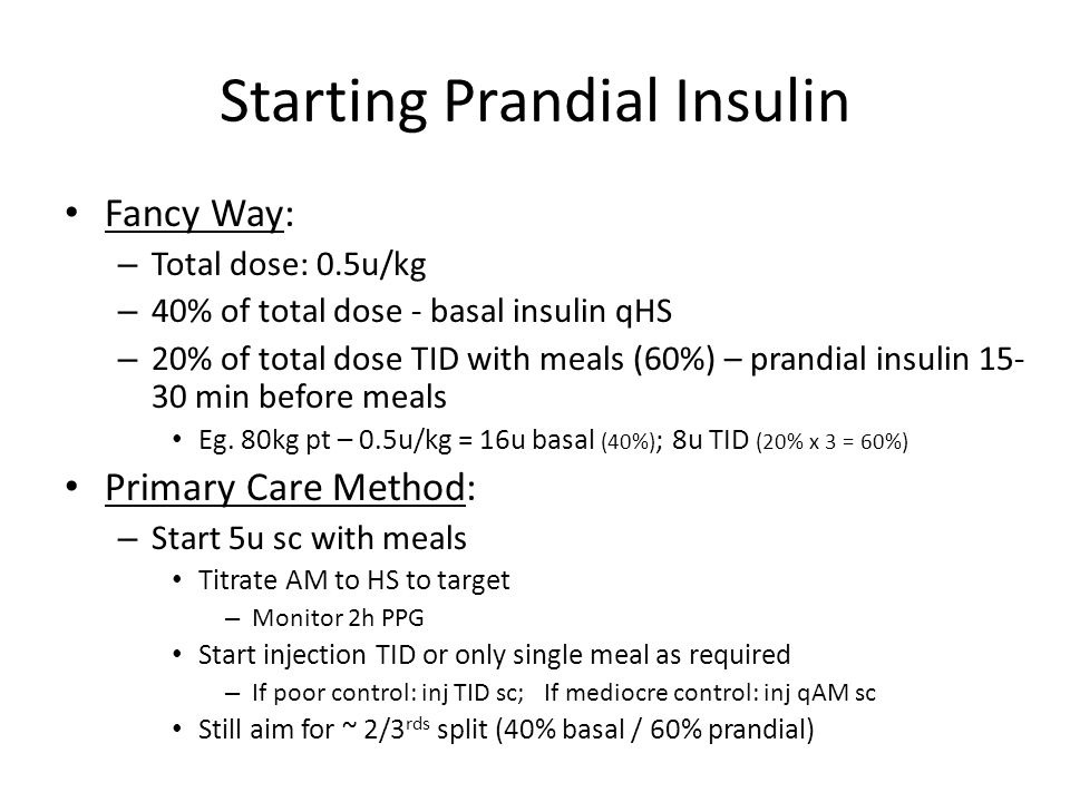 Starting Prandial Insulin