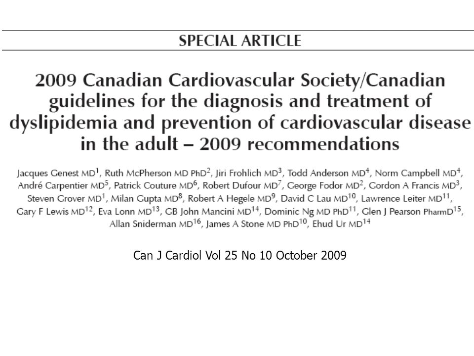 Can J Cardiol Vol 25 No 10 October 2009
