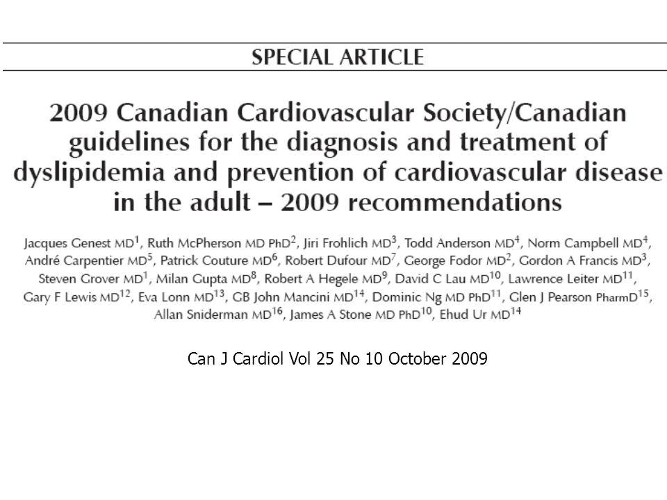 Can J Cardiol Vol 25 No 10 October 2009