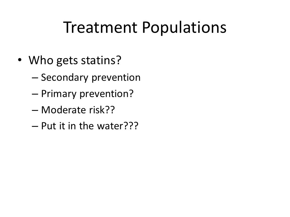 Treatment Populations