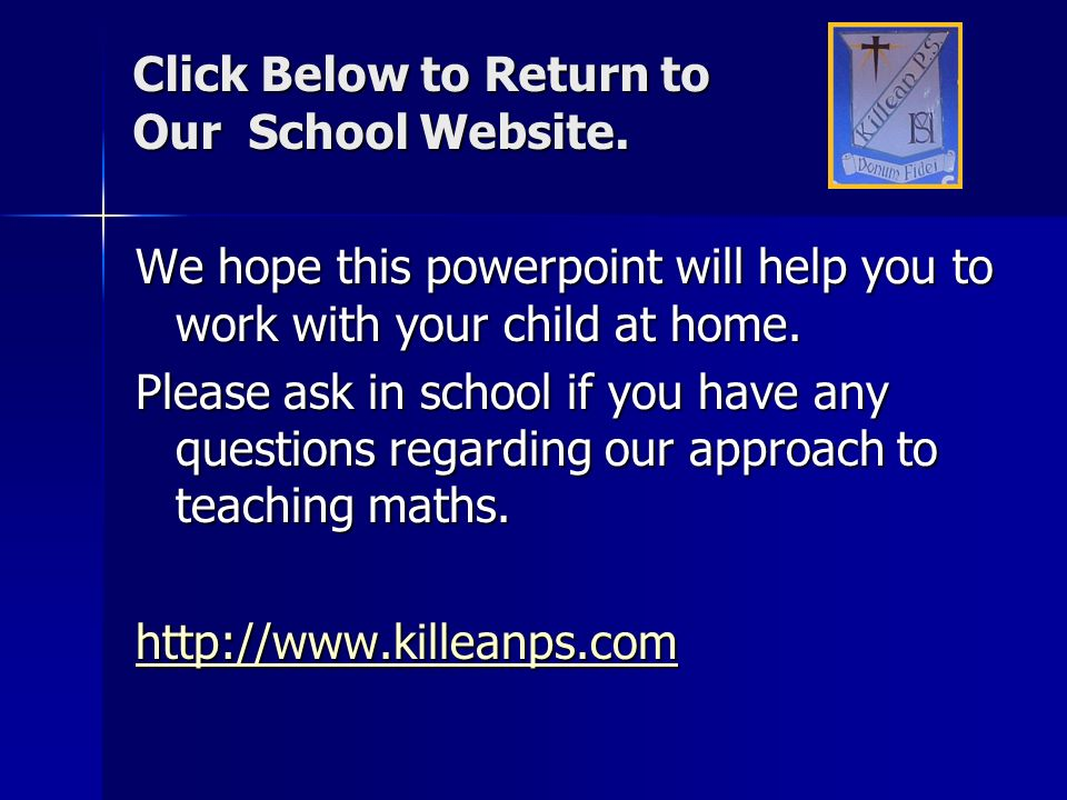 Click Below to Return to Our School Website.