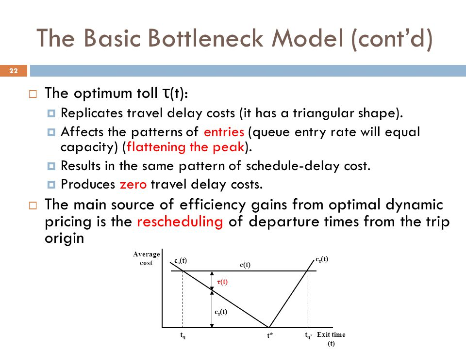 The Basic Bottleneck Model (cont'd)