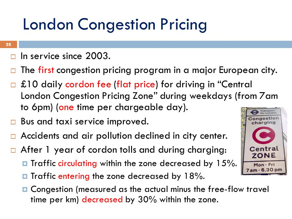 London Congestion Pricing