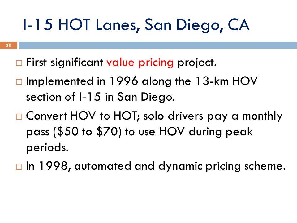 I-15 HOT Lanes, San Diego, CA