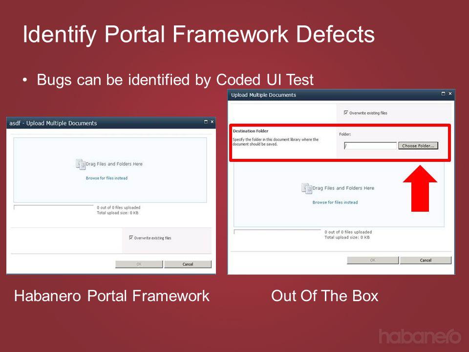 Identify Portal Framework Defects