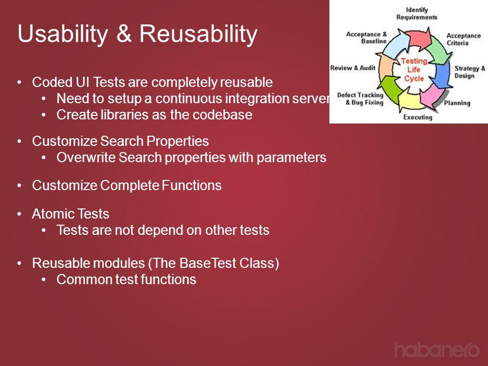 Usability & Reusability