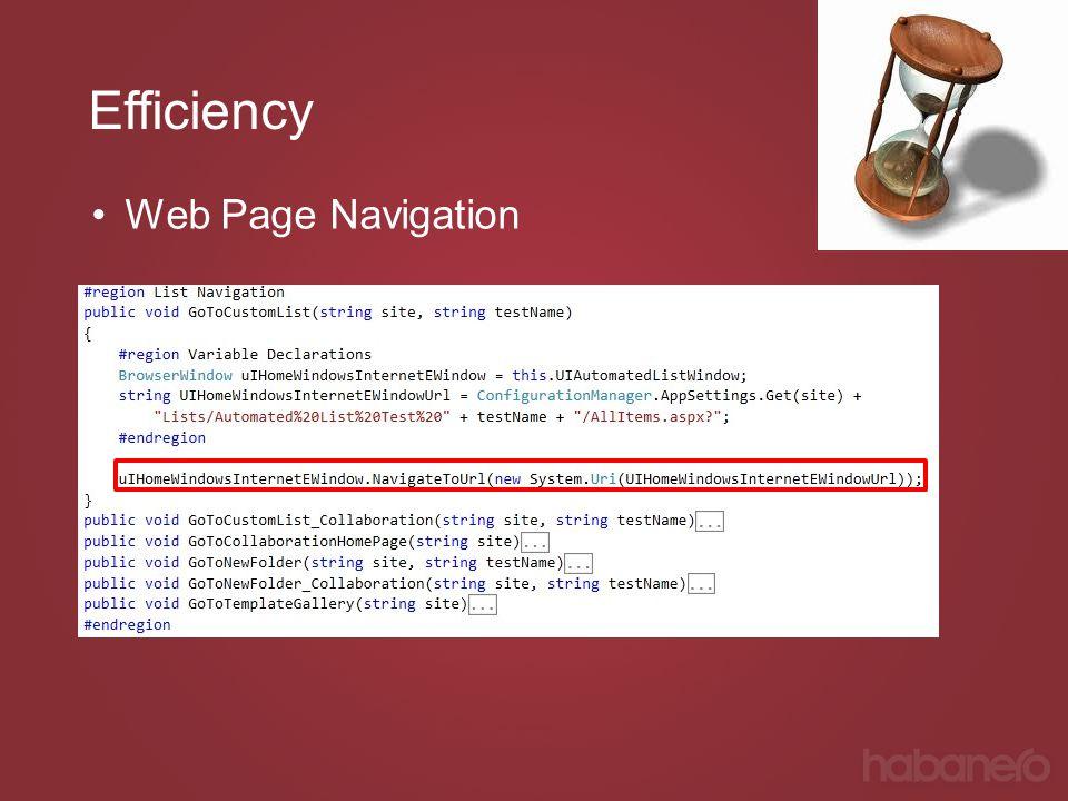 Efficiency Web Page Navigation