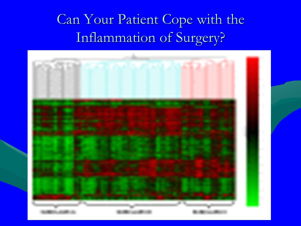 Can Your Patient Cope with the Inflammation of Surgery