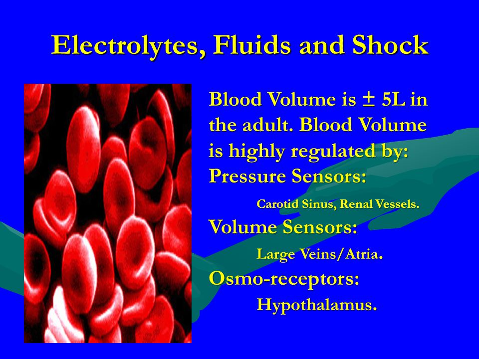 Electrolytes, Fluids and Shock