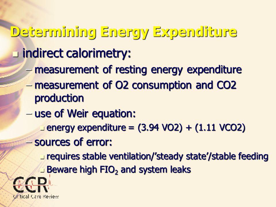 Determining Energy Expenditure