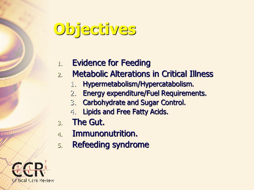 Objectives Evidence for Feeding