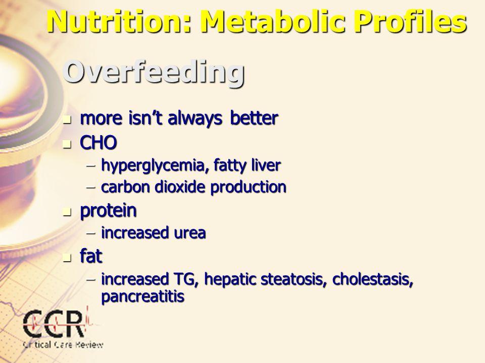 Nutrition: Metabolic Profiles