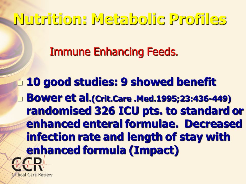 Immune Enhancing Feeds.