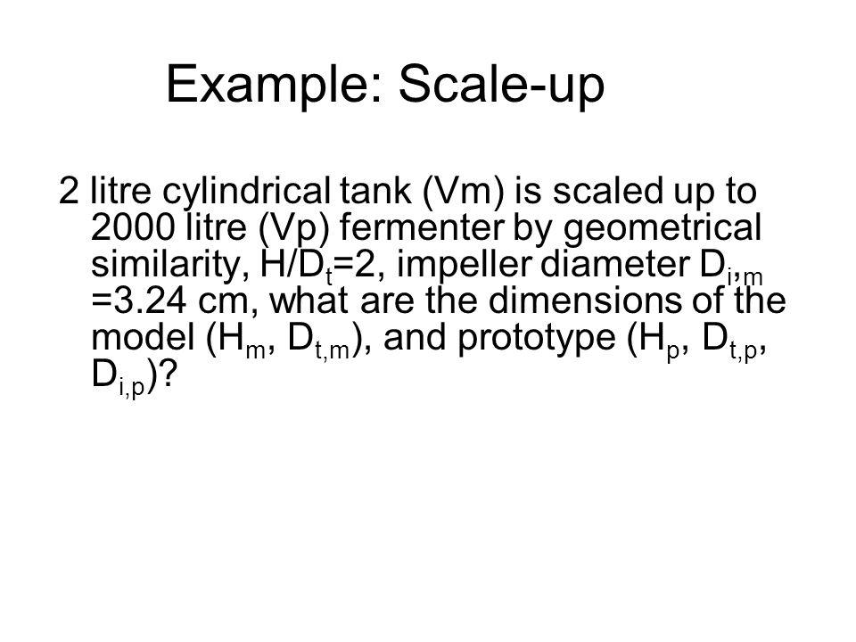 Example: Scale-up