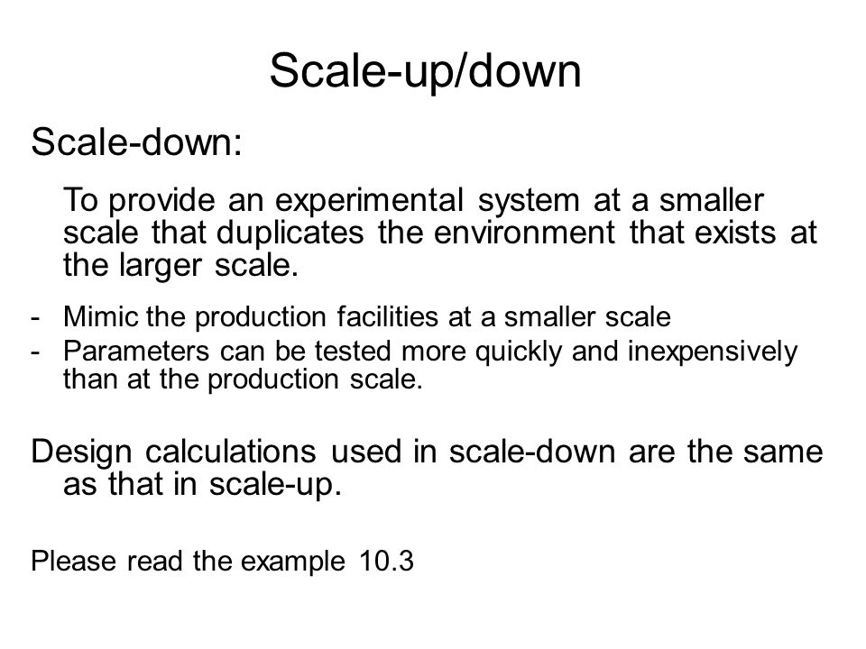 Scale-up/down Scale-down: