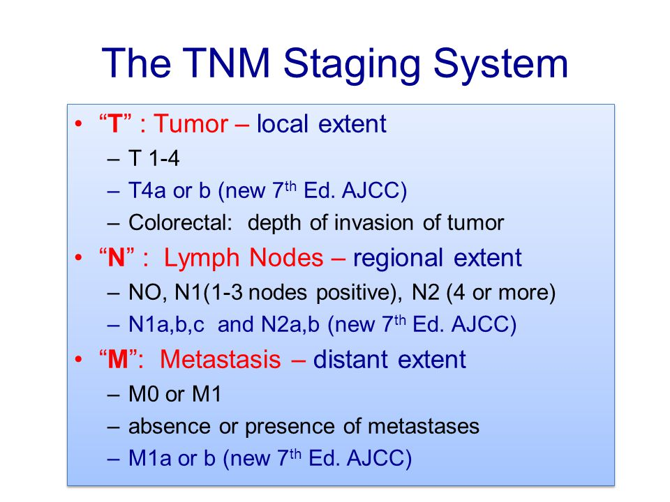 The TNM Staging System T : Tumor – local extent
