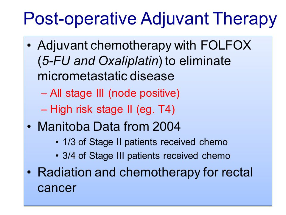Post-operative Adjuvant Therapy