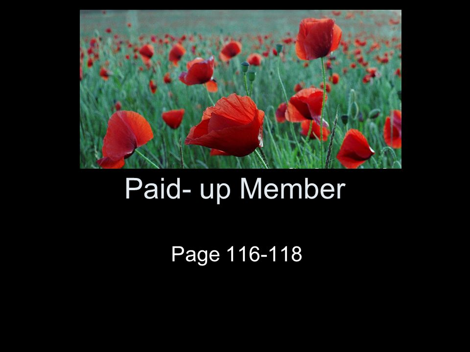 Paid- up Member Page