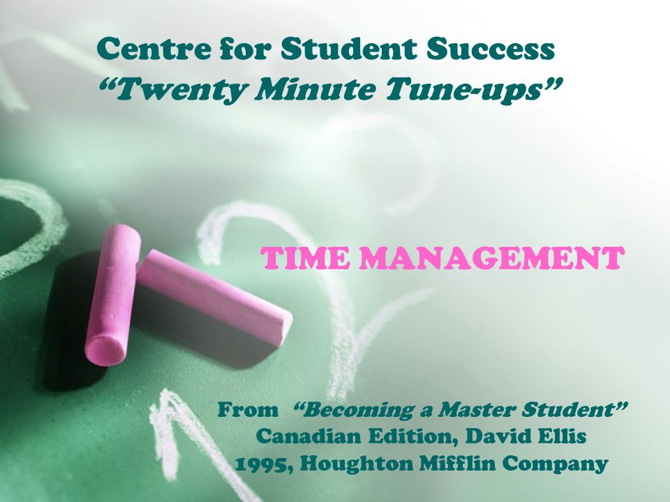 Twenty Minute Tune Up:Time Management