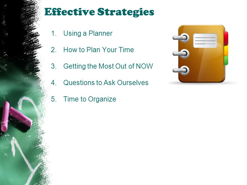 Effective Strategies Using a Planner How to Plan Your Time