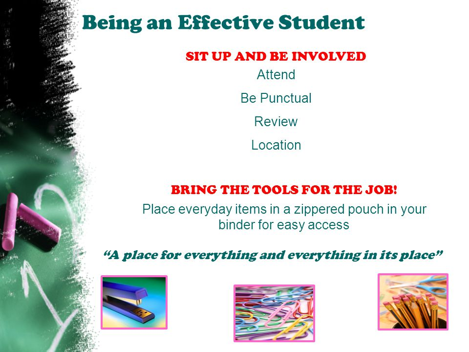 Being an Effective Student