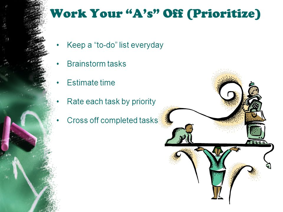 Work Your A's Off (Prioritize)