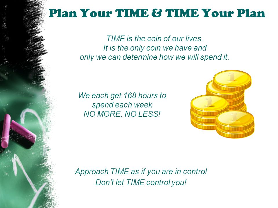 Plan Your TIME & TIME Your Plan