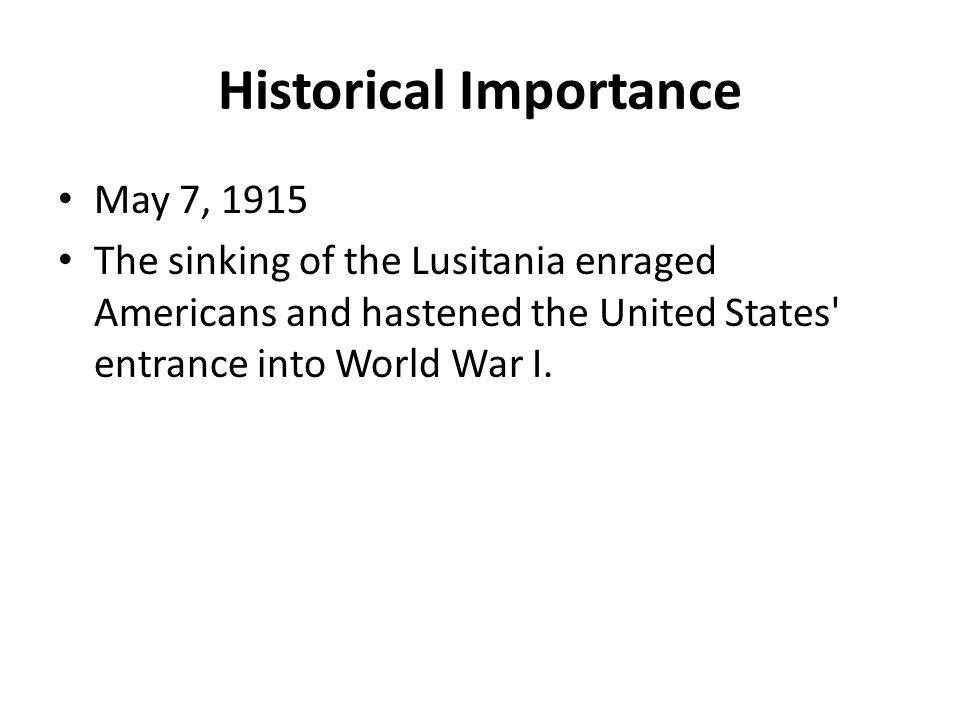 Historical Importance