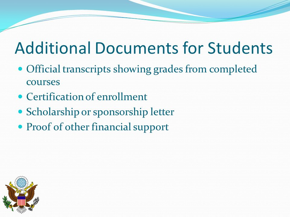 Additional Documents for Students