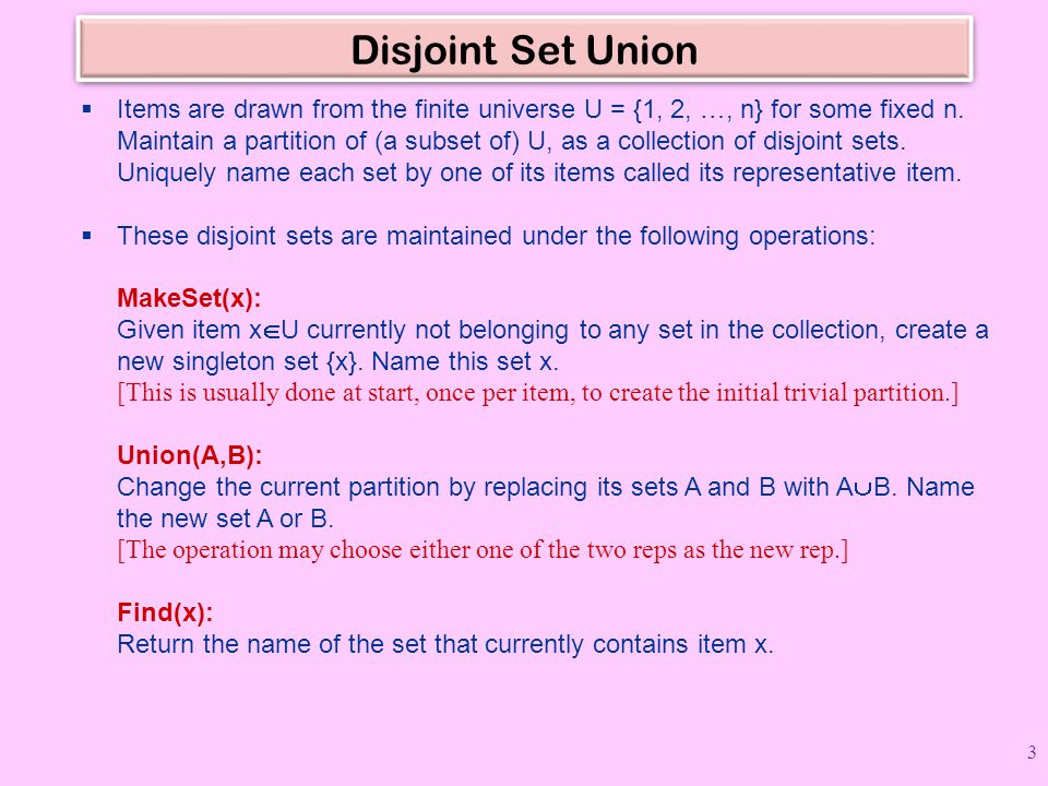 Disjoint Set Union