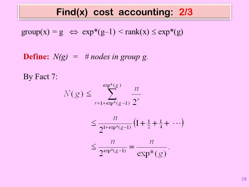 Find(x) cost accounting: 2/3