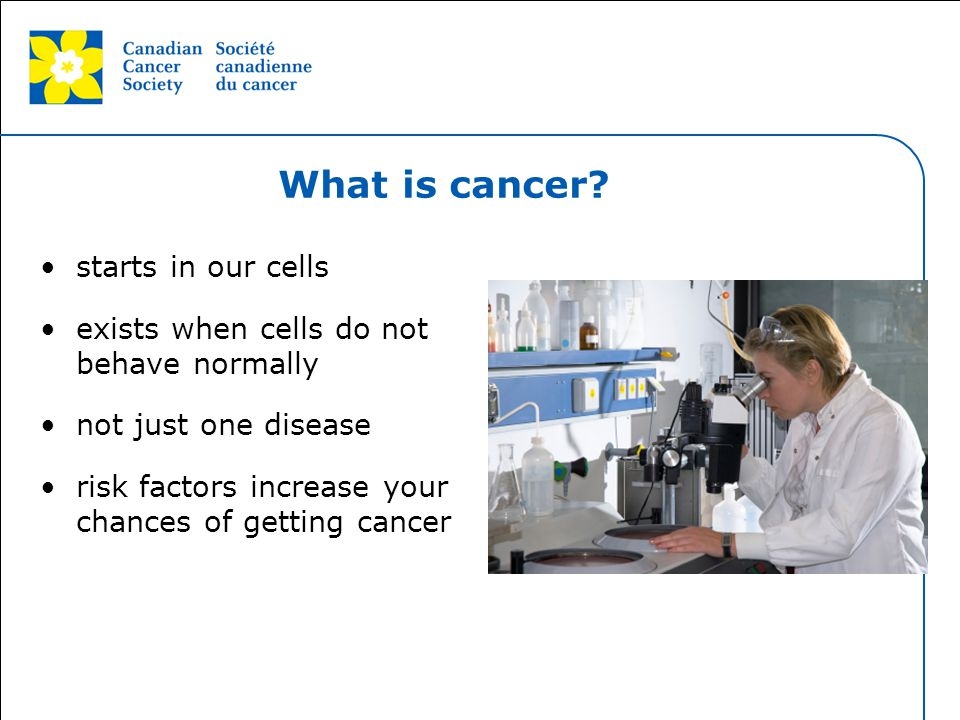 What is cancer starts in our cells