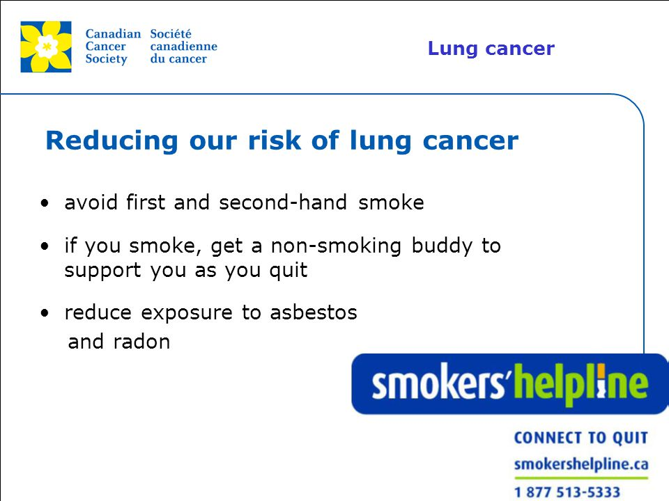 Reducing our risk of lung cancer