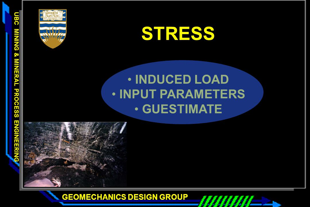 STRESS INDUCED LOAD INPUT PARAMETERS GUESTIMATE