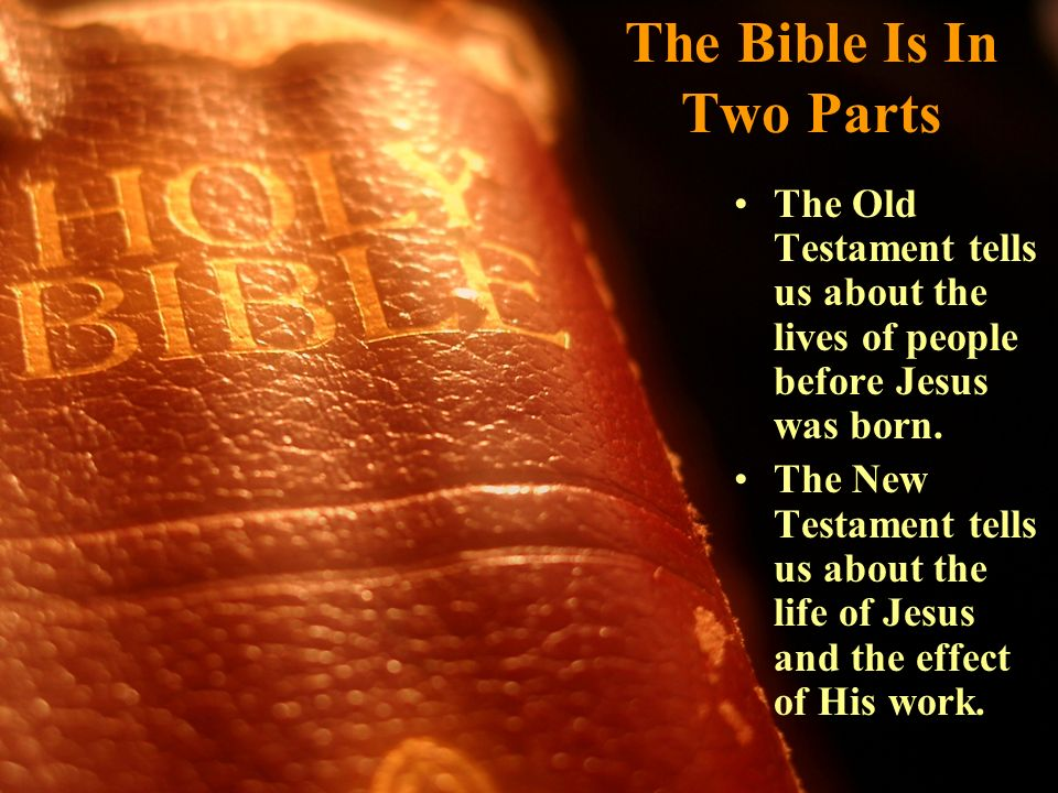 The Bible Is In Two Parts
