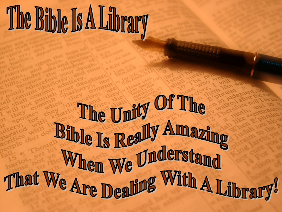 Bible Is Really Amazing That We Are Dealing With A Library!